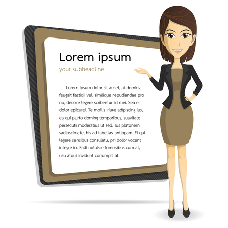 smart Businesswoman vector cartoon