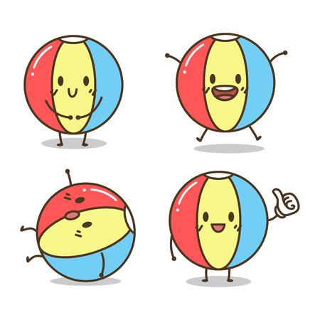charactor: Cute Ball Charactor vector cartoon Illustration