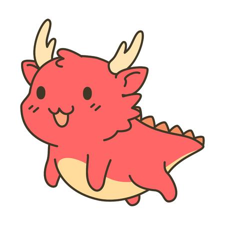 year of snake: Cute Dragon zodiac vector cartoon