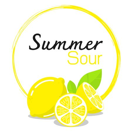 Summer lemon vector illustration