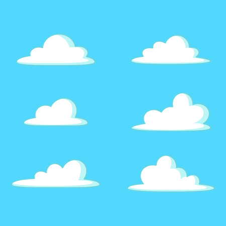 Cloud cartoon vector illustration set