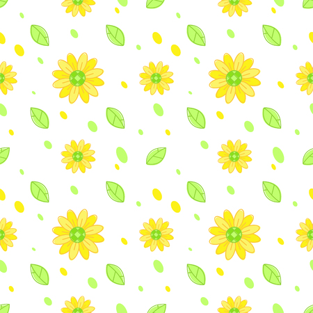 Sunflower seamless pattern vector background
