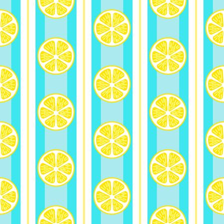Lemon seamless pattern vector background
