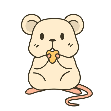 cute rat zodiac vector cartoon