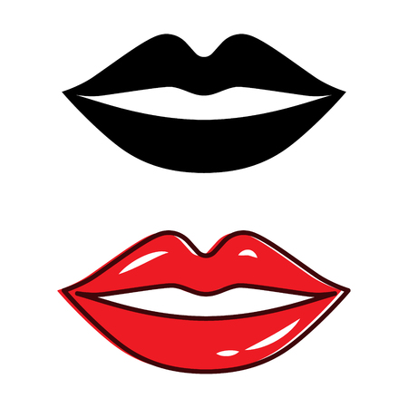 Beautiful lip isolated vector illustration