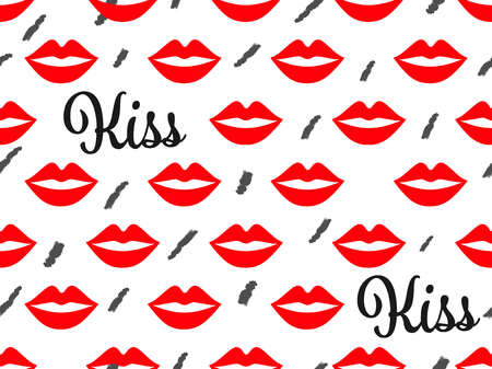 Sexy lip seamless pattern vector background