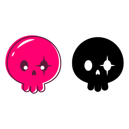 Cute skull isolated vector illustration