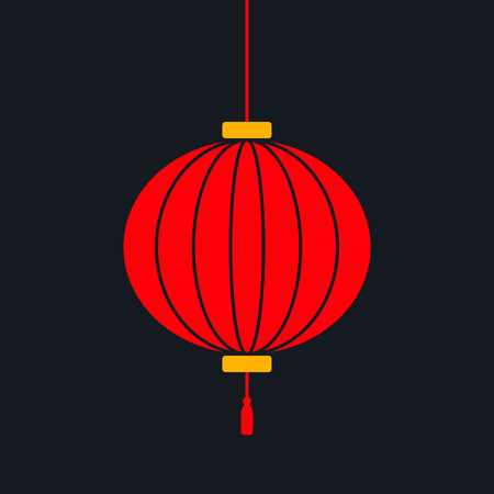 Red Chinese Lantern vector Banco de Imagens - 124993923