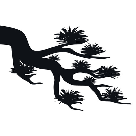 Tree branch  sillhouette vector
