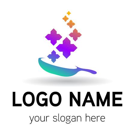 elegance thai food logo vector Banco de Imagens - 122525761