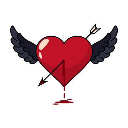 Bloody heart vector illistrations vector illustrations Ilustração