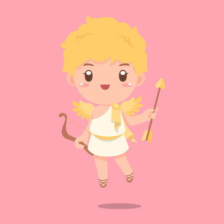 Cute cupid vector illustration