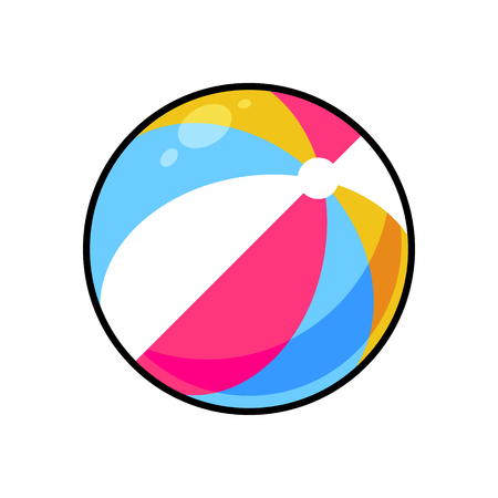 Colorful ball symbol vector