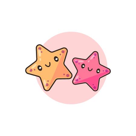 Cute Star Fish vector Banco de Imagens - 124993933