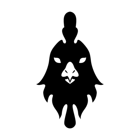 Year of rooster chinese zodiac silhouette vector