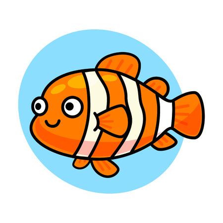 cute nemo fish isolated vector Illustration
