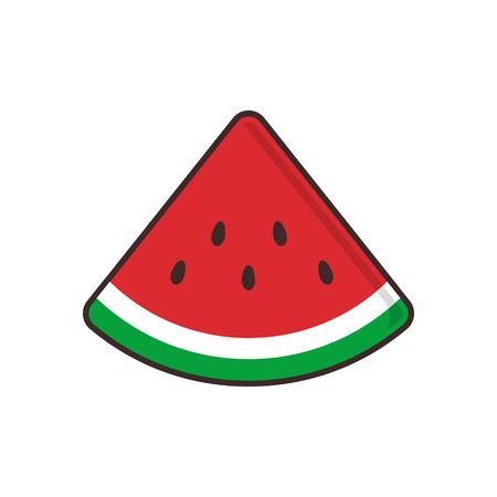 simple Watermelon symbol isolated vector 일러스트