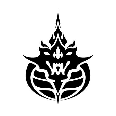 Year of dragon thai zodiac silhouette vector