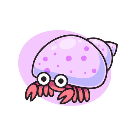 cute hermit crab isolated symbol vector