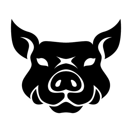 Year of pig chinese zodiac silhouette vector