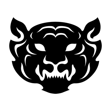 Year of tiger chinese zodiac silhouette vector