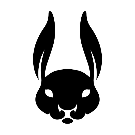 Year of rabbit chinese zodiac silhouette vector
