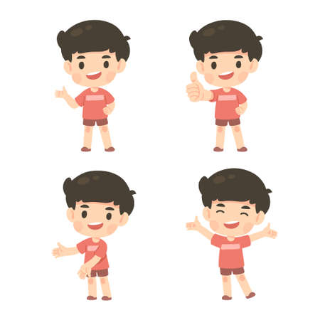 Cute man character cartoon work from home, illustration isolated vector 일러스트