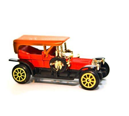 custom car: A metal replica of a 4 door antique car.