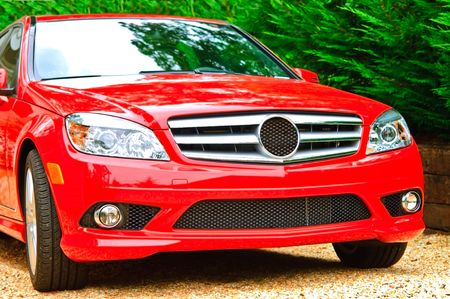 grille: The Front Grille of a modern luxury car. Stock Photo