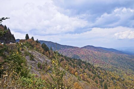A vista along the Blue Ridge Parkway in the Smoky Mountains. photo