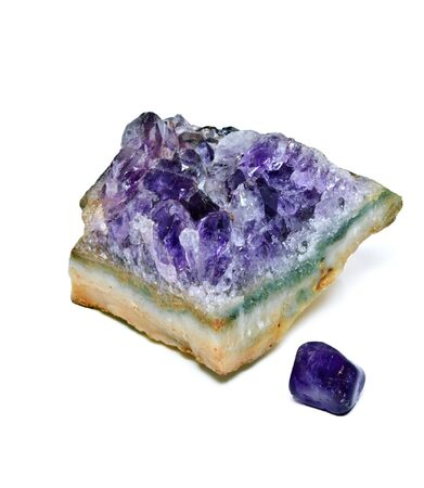 smaller: A large natural amethyst with a smaller gem stone.