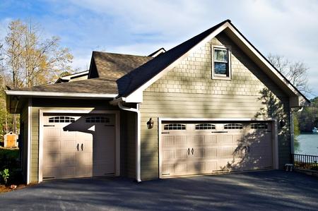 Modern house garage area.