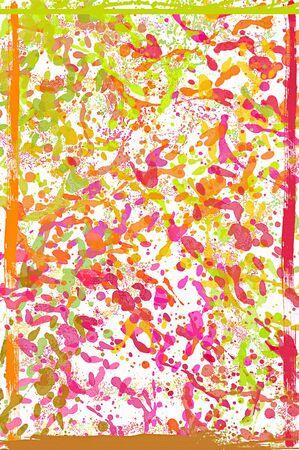 Colorful Pastel Paint Splatters Background  photo