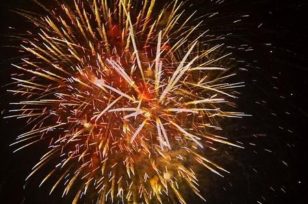 multiple exposure: Esposizione multipla di fuochi d'artificio di pittura del cielo notturno. Archivio Fotografico