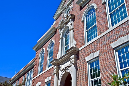 baccalaureate: ATLANTA, GA - SEPTEMBER 17: Druid Hills High School, an international Baccalaureate school, one of the oldest buildings in Dekalb County, designed by Crook and Ivey;  Atlanta, GA, September 17, 2011.  Editorial