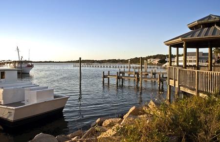 panama city beach: Piers e barche a Panama City Beach, Florida.