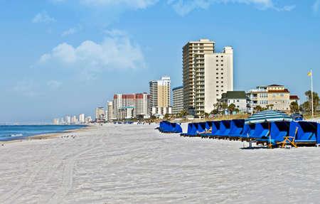 panama city beach: Il litorale di una spiaggia di Panama City Beach, Florida.