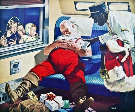 남태평양 라인에서 멋진, 원래 크리스마스 카드는 1900 년대에 직원들에게 보냈다.
