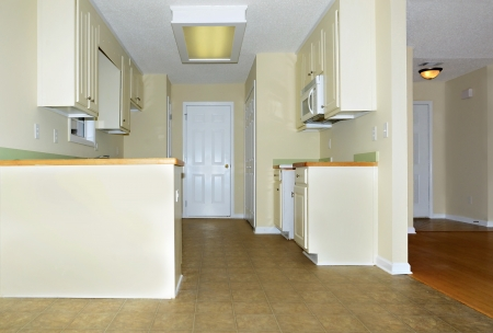 Small kitchen and entry area of a home