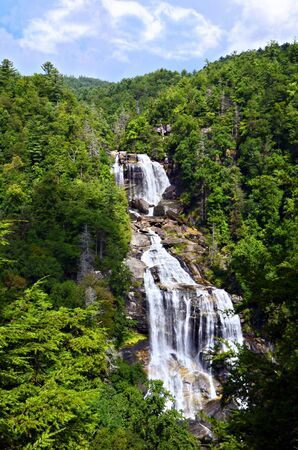 north carolina: Whitewater Falls on the Whitewater River is the last river in the Jocassee Gorge area just before you reach South Carolina.