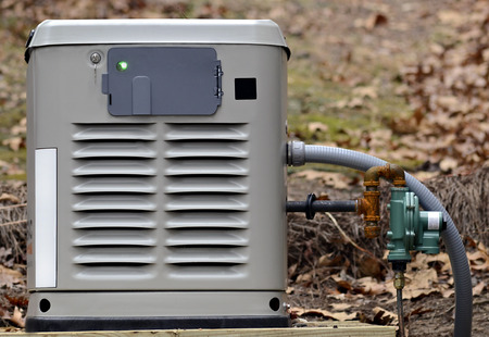 A home backup generator for use during power outages.