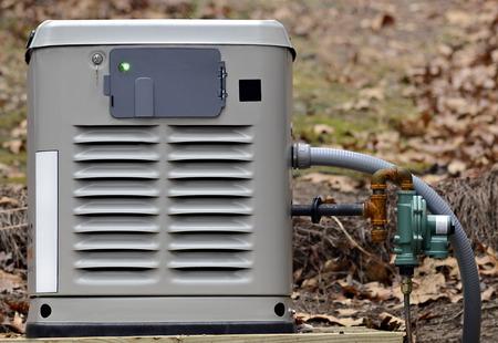 Ein Heim-Backup-Generator für den Einsatz bei Stromausfällen. Standard-Bild