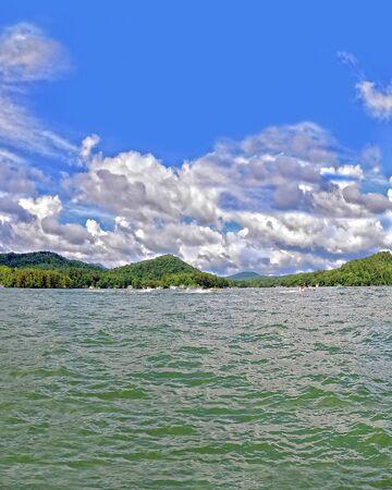 Lake on a Beautiful Summer Day
