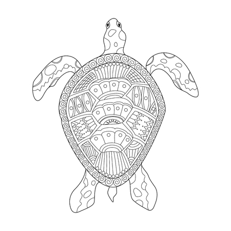 turtle illustration with style. vector illustration.
