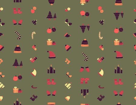 Christmas wrapping paper. hand drawing. vector illustration.