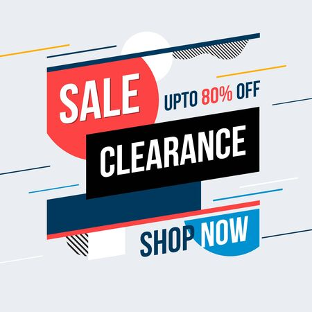 Sale clearance banner. Vector illustration. Concept advertising.