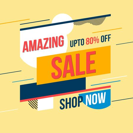 Amazing sale banner. Vector illustration. Concept advertising. Ilustração