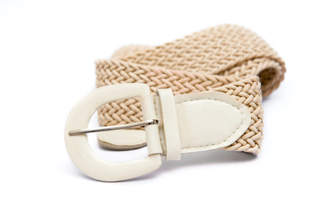 trouser: White womens fashion belt, modern fashion on white.