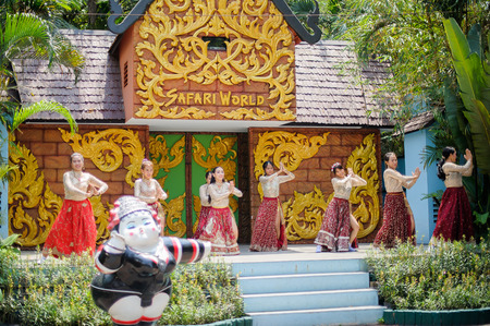 drench: Bangkok, Thailand, July 30: unknown name Presenting a beautiful Thai dance music at Safari Safari in Thailand.