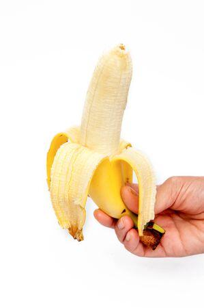 banana skin: Bananas peeled look beautiful to eat.